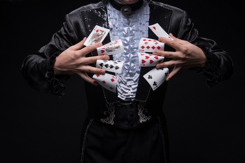 Corporate event magician